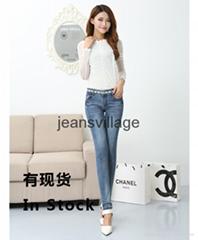 JV-X001 Lattest fashion jeans for ladies