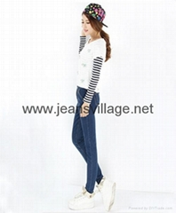 JV-X002 2014 NEW Woman fashion jeans for winter and fall