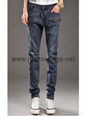 JV-X003 Fashionable jeans for ladies wholesale