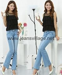 JV-X006 light bule jeans in stock