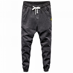 BL-071 Men denim jogger black jeans wholesale Size M-4XL