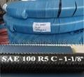 外編纖維線鋼絲增強液壓軟管 S