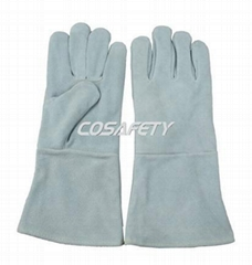 Cow split leather welding gloves
