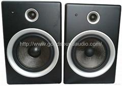 錄音棚DJD6 6.5寸有源監聽音箱