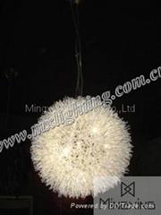modern aluminum pendant lamp big ball