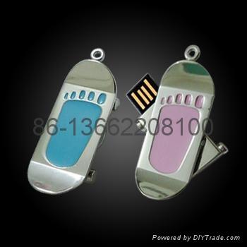 脚印个性创意金属高档礼品印u盘  1