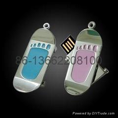 脚印个性创意金属高档礼品印u盘