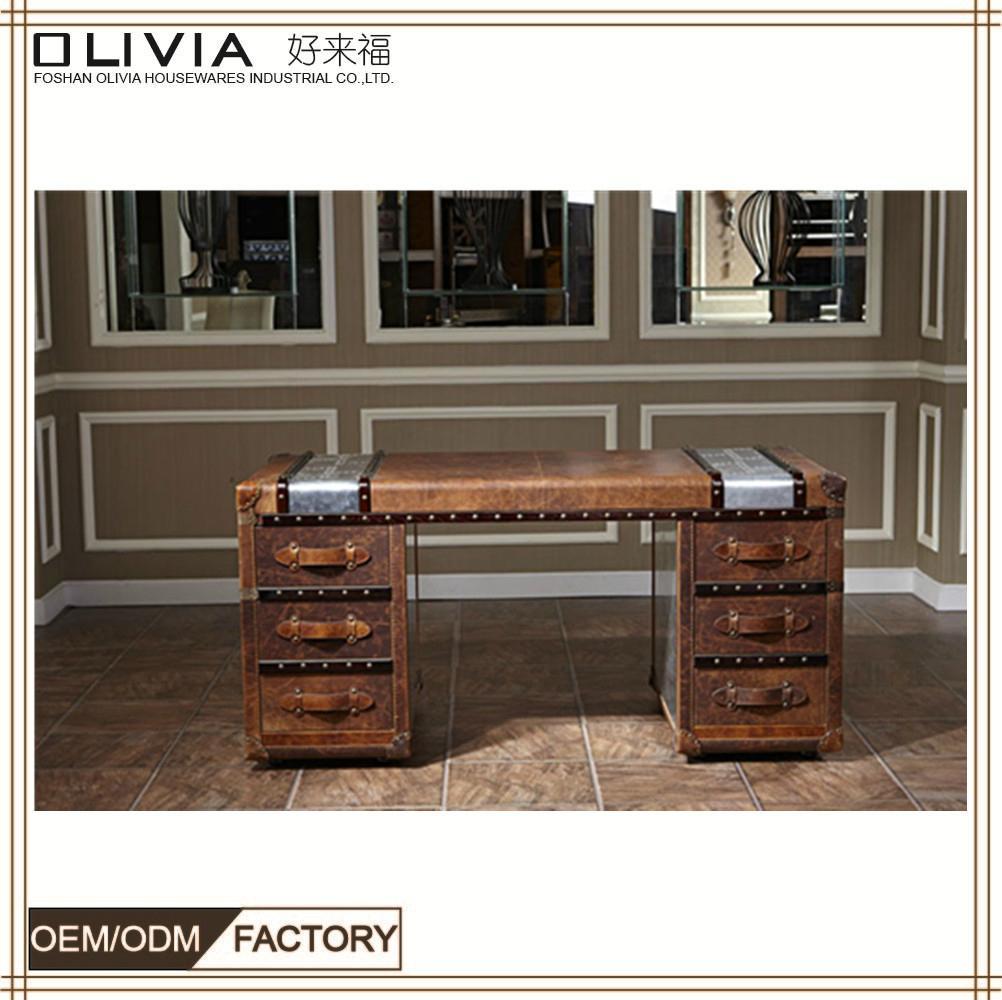 ... Aluminum Wood Design Executive Office Desk Wooden Office Table 2 ...