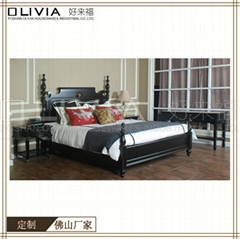 Classic Style Wooden bed bedroom furniture set wood