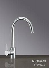 SUS304不鏽鋼單把冷熱混合廚房水龍頭