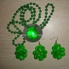 FLASHING BEADED NECKLACE EARRING