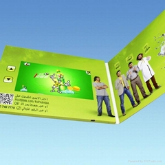 LCD Video Greeting Card Video Book Video Brochure