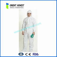 Disposable Tyvek coverall