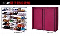 廠家直銷慶諾牌雙排7層鞋架