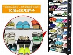 廠家直銷慶諾側板簡易多功能鞋架 宜家鞋架 組合鞋櫃 置物收納整理架