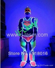 Led luminous costume performance wear clothes luminous led light emitting cloth