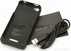 external wireless battery case for iphone 4 4s direct from factory