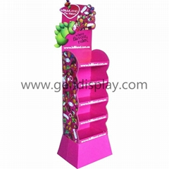 POS Merchandising Cardboard Display Shelf for Candy Retail Promotion