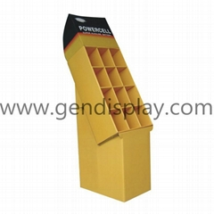 POP Cardboard Display Shelf for Battery Racks