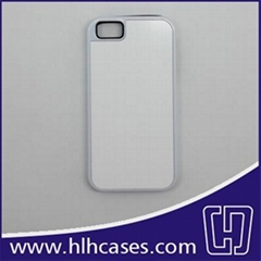 Sublimation case/cover for iPhone 5/5S - 2 in 1 plastic and silicon