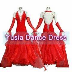 Trumpet Silk Standard Competition Women and girls Ballroom dresses