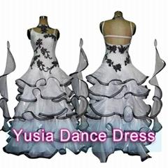 Custom Middle East Stones White Ballroom dresses