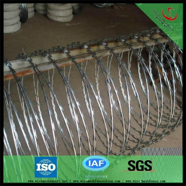 China hot dipped galvanized Razor Barbed Wire factory 2