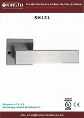 Solid lever handle bedroom door handle
