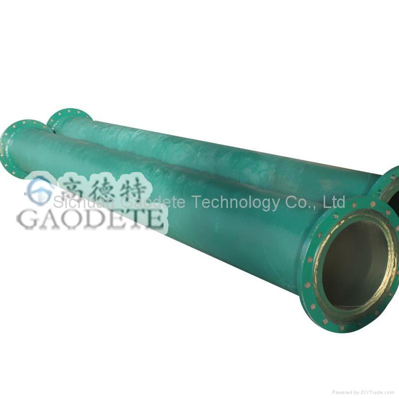 精礦輸送鋼襯聚氨酯管道 3