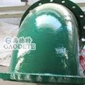 供应新疆地区输油用钢衬聚氨酯七通管件 5