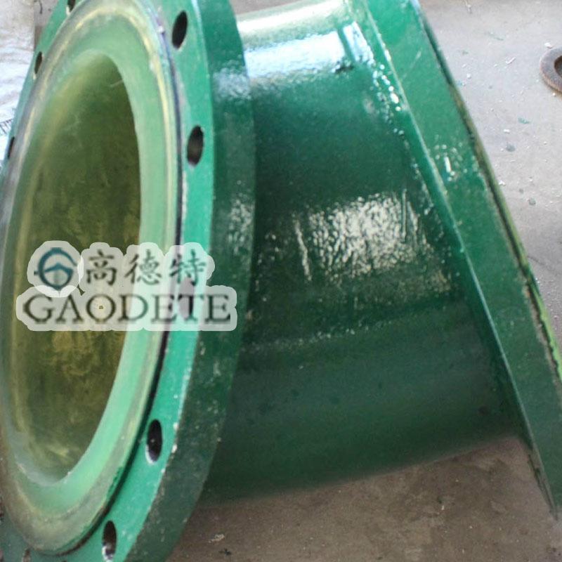 供应新疆地区输油用钢衬聚氨酯七通管件 4