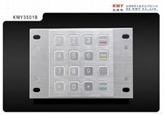 自助缴费终端专用金属加密键盘