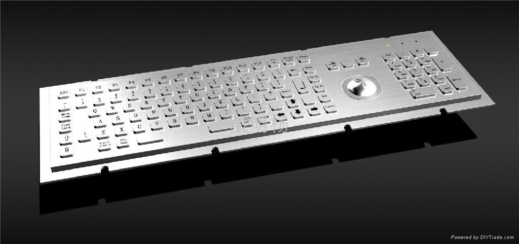 金属PC键盘带轨迹球 1