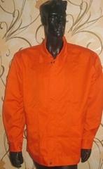 Orange FR jacket for welder