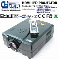 cheap led projectors with digital Tv for home theatre support 1080p & 720p