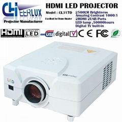 hdmi mi projector with digital Tv & usb & vga for home design