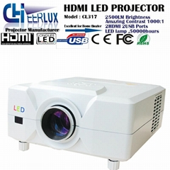 led projectors China made with lcd panel & usb & hdmi & vga support 3d movies