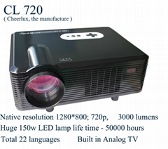 hd 1080p native 720p projectors with 150w led lamp for home theater