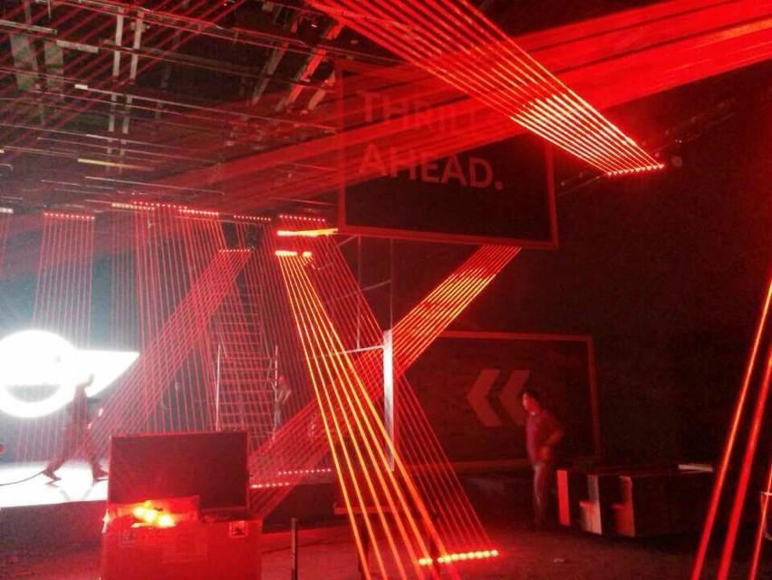 1600mW  red head beam DJ laser show stage lighting 1