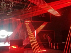 1600mW  red head beam DJ laser show stage lighting