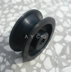 Customed UHMW Polyethylene Plastic U V Groove Pulley Wheel