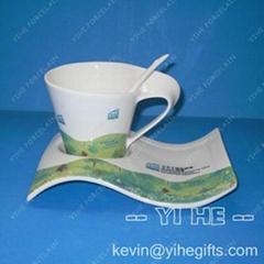 陶瓷廣告禮品杯碟
