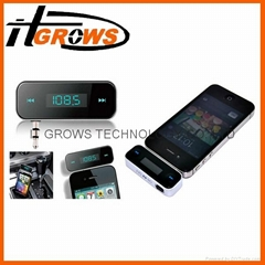 New Wireless 3.5mm In-car Fm Transmitter with USB cable