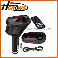 Car Kit MP3 Mucsic Player Wireless FM Transmitter Radio Modulator With USB SD MM