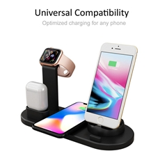 Wireless Charger 4 in 1 Wireless Charging Dock Compatible with Apple Watch 5 and