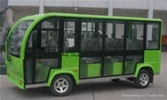 万山红11座封闭式电动观光车