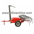 9GBL mower with rake