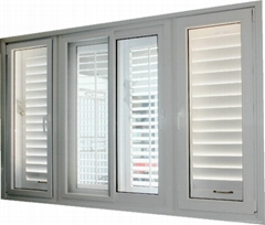 American style moveable louver window