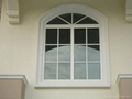 Arched PVC Window with grills design 2