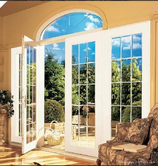 Arched PVC Window with grills design 3